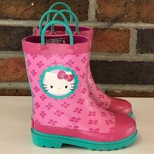 Sanrio Hello Kitty Children's Rain Boots Size 7/8